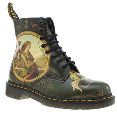 womens dr martens dark green giannicola di paulo pascal boots