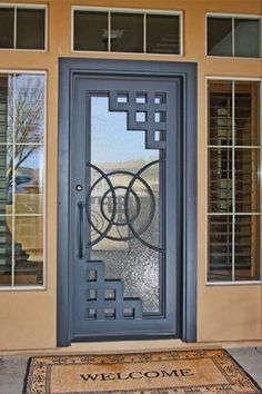 Iron Entry Doors from First Impression Ironworks are crafted uniquely for your home. Our steel entry doors are an investment … Door Gate Design, Main Door Design, Interior Barn Doors, Interior And Exterior, Tor Design, Window Grill Design, Wrought Iron Doors, Double Barn Doors, Unique Doors