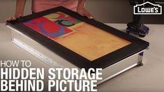 Hidden Storage: Behind Picture Frame
