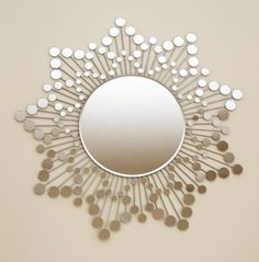 sunburst mirror design Mirror Mosaic, Mirror Art, Mirror Ideas, Diy Mirror, Oversized Wall Art, Sunburst Mirror, Conservatory, Decoration, Wall Design