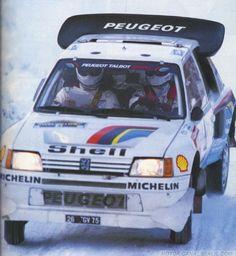 Juha Kankkunen - Juha Piironen-36º Rally Suecia 1986. Peugeot 205 T16 Ev2. Clasificado 1º.