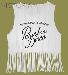 6d8b377f61bc8 Fringe Tops Panic! At The Disco Shirt p!atd Brendon Urie Tank Top Band
