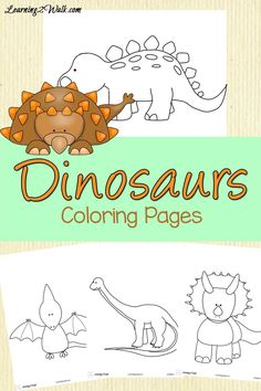 dinosaurs coloring pages learning 2 walk
