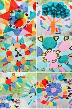 Easy Contact Paper Mandalas - picklebums.com