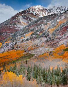 Maroon Creek Road, Aspen, Colorado; photo by Kevin McNeal