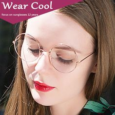 109a3bf7309 Wear Cool Aviation Gold Frame Sunglasses Female Classic Eyeglasses  Transparent Clear Lens Optical Women Men glasses