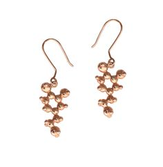Dopamine Molecule Earrings - Rose Gold Plated #rose #gold #love #passion #valentines #gift #forher