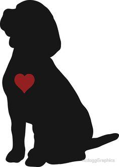 «Beagle Silhouette» de ncdoggGraphics