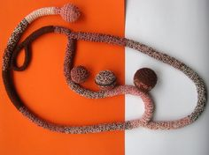 Multicolor Crocheted Necklace by ARTcrochet on Etsy, $39.00