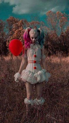 Scary Halloween Costumes, Halloween Cosplay, Diy Halloween, Star Wars Costumes Adults, Makeup Carnaval, Harey Quinn, Rey Cosplay, Cosplay Costumes, Pennywise The Clown