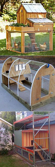 Another chicken coop I like . Chicken Coup, Chicken Runs, Backyard Chicken Coops, Chickens Backyard, Design Jardin, Garden Design, Chicken Tractors, Building A Chicken Coop, Hobby Farms