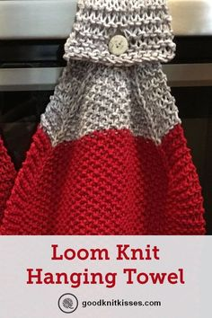 Loom Knit Hanging Kitchen Towel 2019 This hanging kitchen towel pattern you can loom knit makes a great gift!goodknitkisse The post Loom Knit Hanging Kitchen Towel 2019 appeared first on Knit Diy. Loom Knitting For Beginners, Round Loom Knitting, Loom Knitting Stitches, Knifty Knitter, Loom Knitting Projects, Knitting Ideas, Knitting Kits, Easy Knitting, Amigurumi