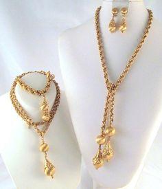 Book Set Full 4 Piece Parure Signed Monet Demi Parure Set Vintage Necklace | eBay