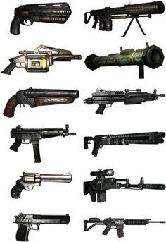 Just Cause 2 Weapons by The-Masked-Max on DeviantArt