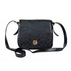 Coach Classic Rambler Legacy In Signature Medium Black Crossbody Bags BDV