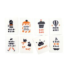 Darling Clementine Paris Card Set of 8 Cards