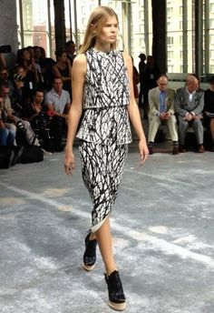 Black and white arty print at @Alex Jones Bel Schouler #NYFW #SS14 via French Vogue