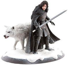 Estatua Juego de Tronos. Jon Nieve y Fantasma 33 cm. Dark Horse