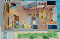 Sims 4 House Plans, Sims 4 House Building, Sims House, Sims 4 Houses Layout, House Layouts, Sims 4 Loft, Sims 4 City Living, Sims 4 House Design, Apartments