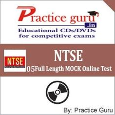 5 Full Length MOCK Online Test to check and compare your preparation for NTSE exam, specially designed on Latest Pattern & Syllabus for NTSE.