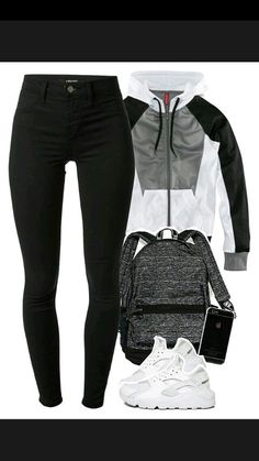 competitive price 4b6ce a4adc A fashion look from October 2015 featuring HM jackets, J Brand leggings and  NIKE athletic shoes. Browse and shop related looks.