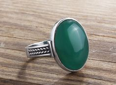 Men Ring 925 K Sterling Silver Agate All sizes $39.90