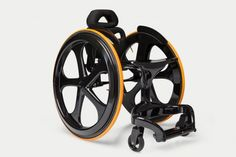 Carbon Black Wheelchair made almost entirely from carbon fiber. Carbon Black is minimally designed for offering features such as aesthetics that turn heads. Lightweight Wheelchair, Manual Wheelchair, Sports Wheelchair, Red Giant, Eco Architecture, Carbon Black, Cool Tech, Green Building, Cool Tools