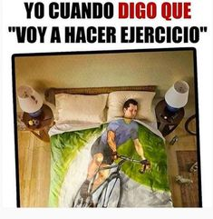 Voy a hacer ejercicio. Cobija.: