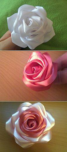 Paso a paso Clases magistrales en las rosas de lujo cintas.