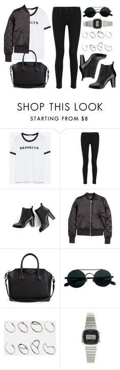 """Style #11665"" by vany-alvarado ❤ liked on Polyvore featuring Zara, rag & bone, SWEET MANGO, H&M, Givenchy, ASOS and Casio"