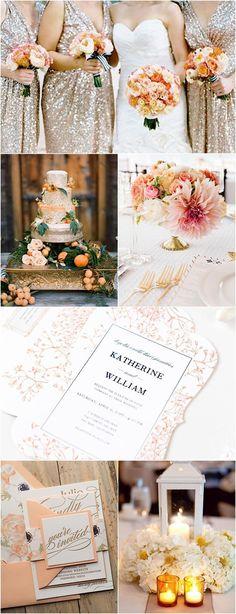 Inspiratie pentru nunta, o combinatie eleganta de culori: Citrus Orange si Auriu