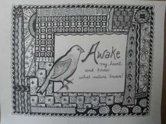 Zendoodle with Poetry