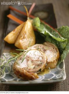 pear with rabbitt | Saddle of rabbit with pears #springforpears and #usapears