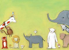 Zoo Babies print by Marisa Haedike. 11x17. $75
