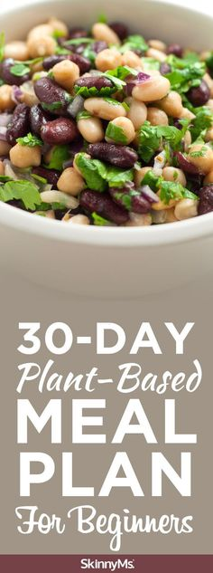 30-Day Plant-Based Meal Plan For Beginners - Our 30-day plant-based meal plan for beginners will walk you through everything you need to know to start on your plant-based journey. | plant based | plant based diet | plant based foods list | @skinnyms #plan