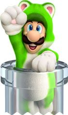 Cat Luigi emerging from a aclear pipe from the official artwork set for #SuperMario3DWorld on #WiiU. #Mario #SuperMario http://www.superluigibros.com/super-mario-3d-world