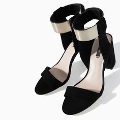 Image 4 of SANDAL WITH METAL ANKLE STRAP from Zara
