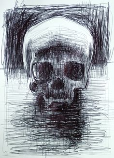 Bill Murphy skull sketch More Skull Sketch, Pen Sketch, Memento Mori, Bill Murphy, Crane, Ballpoint Pen Art, Vanitas, Skull And Bones, Illustrations