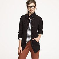 j.crew love -- great combo to try with my rust-colored pencil skirt