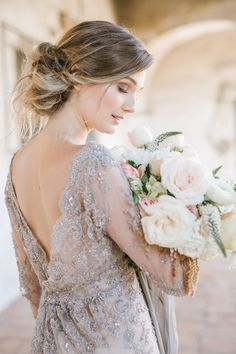 Take the look at these 46 Unforgettable Wedding Hairstyles for Long Hair undone updo hairstyle with tresses. PIN to your board for later use. Stunning Wedding Dresses, Classic Wedding Dress, Princess Wedding Dresses, Wedding Dress Styles, Beautiful Gowns, Bride Portrait, Wedding Portraits, Wedding Hairstyles For Long Hair, Bridal Hairstyle