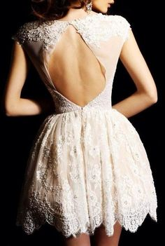 Lace beads and open back all in one dress? yes please.
