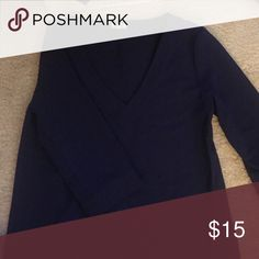 Tobi dress Navy blue 3/4 sleeved tobi dress! Perfect with brown boots and a light scarf or to a work party! Only worn it twice! 😊 Tobi Dresses Long Sleeve