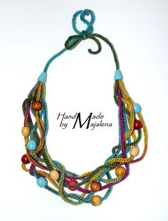 crochet necklace by jody