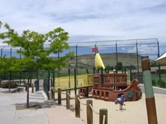 TANGLEWOOD PARK - 13950 West 20th Avenue, Golden, CO - pirate ship playground, swings, tube slides, picnic shelter