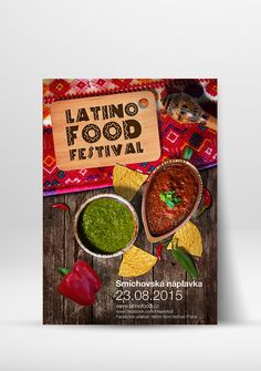 Latino Food festival poster design on Behance