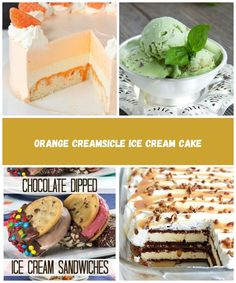 This Orange Creamsicle Ice Cream Cake is light, fruity and just like eating an orange creamsicle in ice cream cake! I'm so excited to share it with you! Chocolate Dipped, Chocolate Cake, Dips Ice Cream, Orange Creamsicle, Cream Cake, Sandwiches, Eat, Breakfast, Food