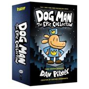 Dog Man: The Epic Collection: From the Creator of Captain Underpants (Dog Man Boxed Set) Hardcover – October Dav Pilkey (Author). Not only does he battle Petey the Cat, but he also takes on an entire army of hot dogs. Dog Man Book, Man And Dog, Book Series, Book 1, The Book, Dog Man Unleashed, Dug The Dog, Captain Underpants Series, The Paperboy