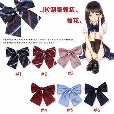 Japanese School Girl JK Uniform Bow Tie Cute Bowknot Neck Tie Adjustable Cosplay #unbranded #BowTie