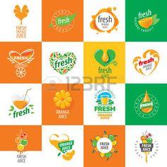 logo vecteur icne jus de fruits frais partir de produits naturels