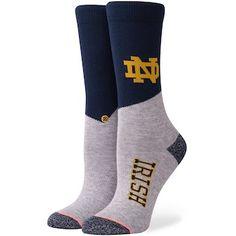99ae850bb3dadc Notre Dame Fighting Irish Stance Women s College Crew Sock Sock Shoes